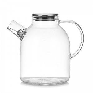 Wholesale transparent high borosilicate teapot heat resistant glass tea pot with Lid