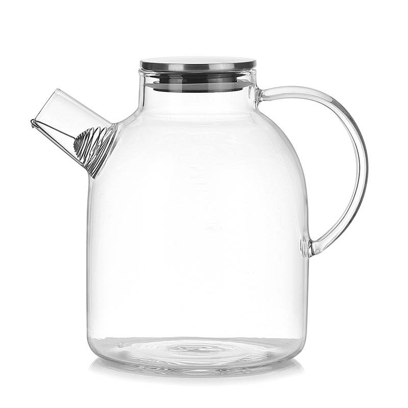 China Bamboo Lid Glass Storage Jar Suppliers - Wholesale transparent high borosilicate teapot heat resistant glass tea pot with Lid  – Sogood