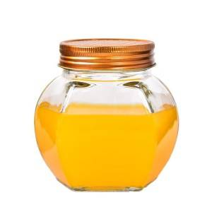 Factory Round Glass Honey Jar with Lid