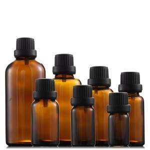 Essential Oil Amber Glass Bottles with Cap
