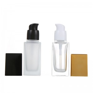 Hot sell Square Unique Fashion Oil Cosmetic Glass Bottle