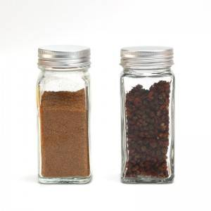 Glass Spice Jars with Shaker Pour Lid