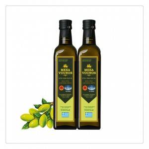 Factory Green brown glass for olive oil bottle