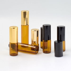 Amber Glass Perfume Bottle with Roller