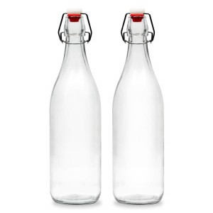 Kitchen Glass Beer Bottles with Swing Top Cap