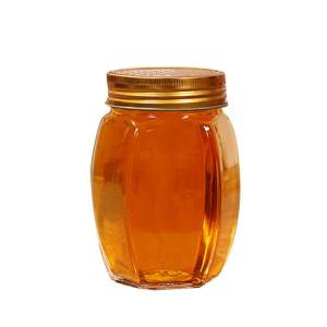 Glass storage jar for honey food