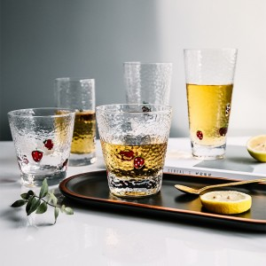 Wholesale clear water glass cup