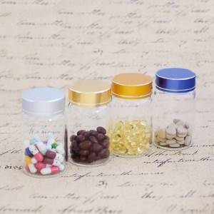 Chinese Professional Round Glass Storage Jar - Borosilicate Tube Vials With Brushed Metal Flat Top Screw Cap (D55) – Sogood