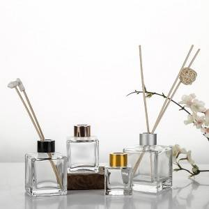 Feel Fragrance Glass Diffuser Bottles with Silver Cap