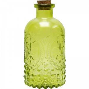 Embossed Glass Diffuser Bottles with Corked Lids