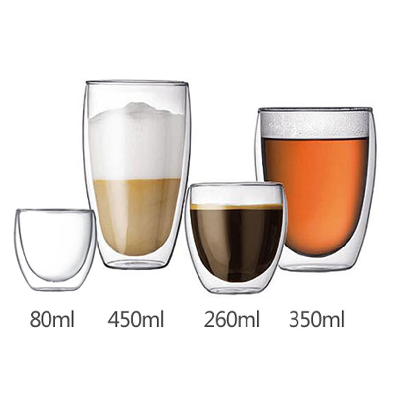 Wholesale Pill Bottle Factory - Double wall glass beverage water coffee cup glass mug  – Sogood