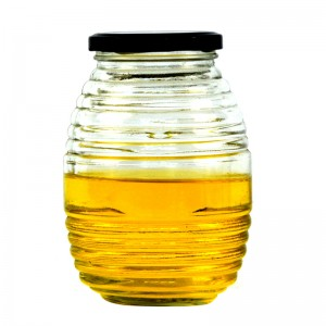 Honey Pot Jar Transparent Beehive-Shaped