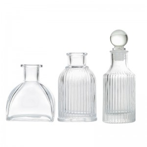 Glass Diffuser Bottles Aroma Bottle with Lid
