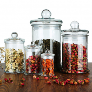 Empty Food Storage Glass Jars