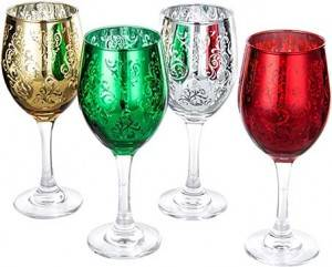 Christmas  glass  wine  cup