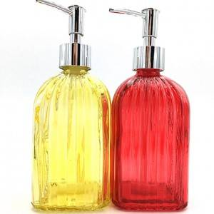 Low price for Crystal Perfume Bottles Wholesale - 490ML Refillable Lotion Soap Dispenser Bottle with Pump for Bathroom, Kitchen – Sogood