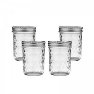 Good User Reputation for Small Glass Honey Bear Jars - Wide Mouth Mason Glass Jars Quilted Crystal with Lids – Sogood