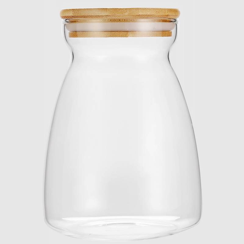 Wholesale Glass Nut Storage Jar Factory - Narrow Mouth Glass Storage Jars with Bamboo Lid – Sogood Featured Image