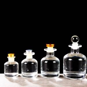 Glass Clear Bottles with Corked Lids