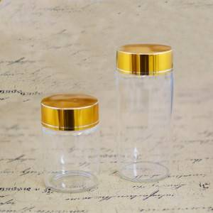 High Quality for Drinking Glasses - Tube Vials With Brushed Metal Flat Top Screw Cap (D65) – Sogood