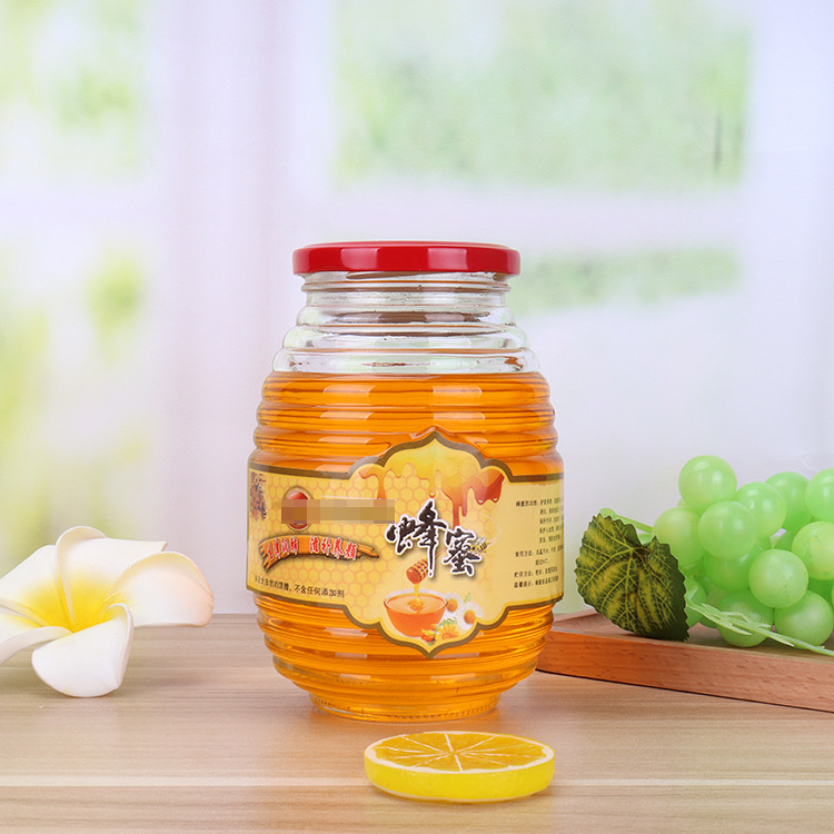 China Honey Pot Manufacturers - Honey pickle jam jar thickened round food storage jar tank – Sogood detail pictures