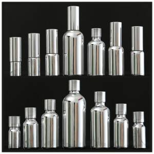 Silver Plating Cosmetic Glass Bottle Set