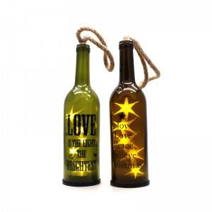 Factory decorative glass wine bottles that decorate lamps and lanterns for the festive atmosphere