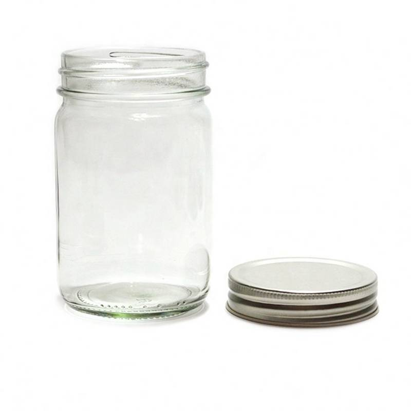 Glass Mason Jar with Silver Screw Cap Featured Image