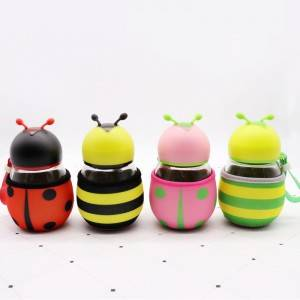 300ML Mini Bee Glass Drink Bottle/Cup