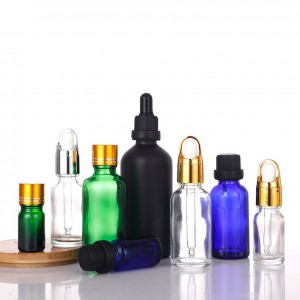 Different colour dropper bottles