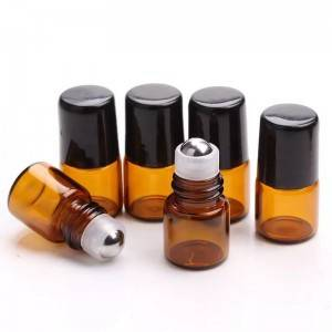 5ml Glass Roll-on Bottles with Stainless Steel Roller Balls