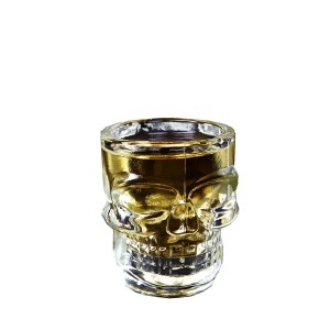 New hot sale 16oz Skull glass mug Skull head drinking beer glass cup