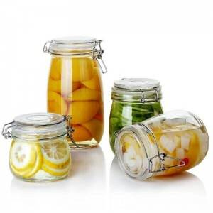 Glass Kitchen Storage Canister Mason Jars with Lids