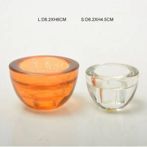 Thickened Bowl Glass Candle Holder