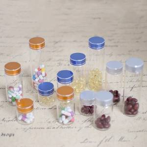 Wholesale Price China Food Storage Glass Jar - Tube Vials With Brushed Metal Flat Top Screw Cap (D37) – Sogood