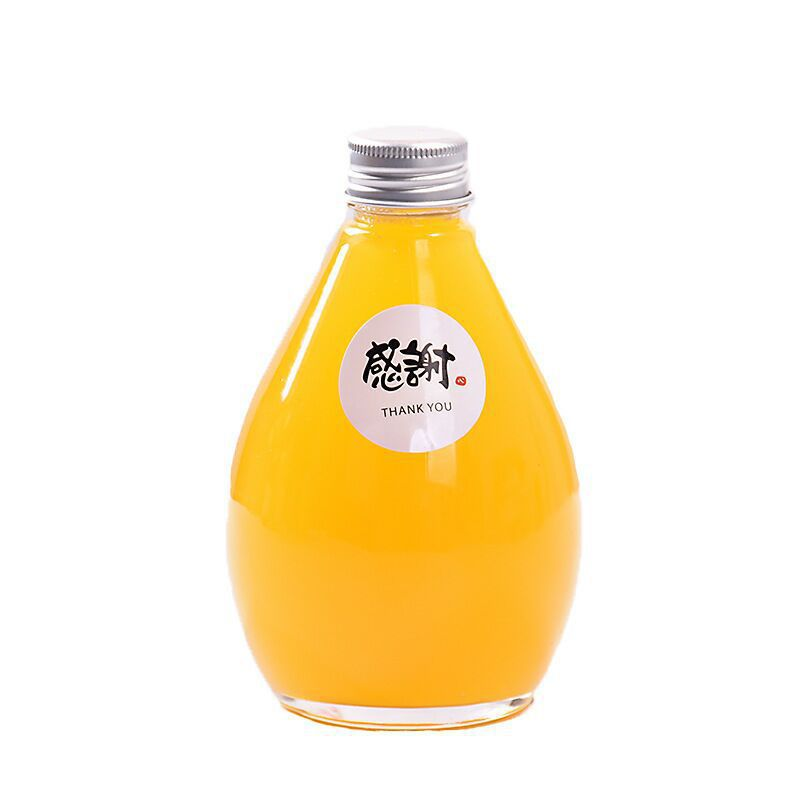 OEM Customized Lampshade Glass Bottle - 100ml 280ml 350ml 500ml Clear Frosted Milk Tea Beverage Glass Bottle  – Sogood