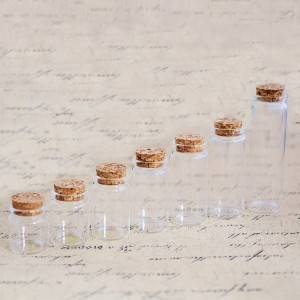 One of Hottest for Honey Bottle - Bayonet Tube Vials with Cork Stopper(D37) – Sogood