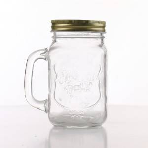 Pudding Bottle Manufacturers-  Glass Mason Mugs with Handle – Sogood