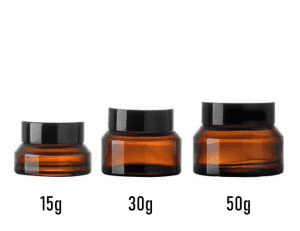 Hot sale 15g 30g 50g Amber Cream Bottle Jar with Lid
