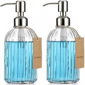 420ml  Glass Pump Bottle, 6 Pack, for Aromatherapy, Lotions, Soaps & More