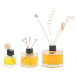 50ml 100ml 150ml 200ml Reed Diffuser Round Glass Bottle with Lids