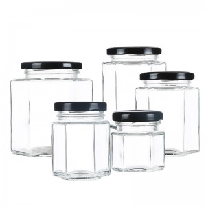 Glass Jars with Metal lids for honey jam