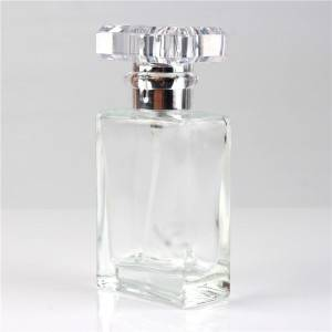 Wholesale Royal Perfume Bottle Factories - 30ml  50mlRefillable Portable Square Empty Glass Perfume Bottle – Sogood