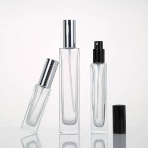 Manufacturer for Small Perfume Bottles - Travel Essential Oil Bottle Rectangle Clear Glass Perfume Bottle – Sogood
