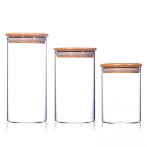 China Tinplate Cover Factory-  Eco-friendly Heat Resistance Borosilicate Food  Glass Storage Jar with Bamboo Lid – Sogood