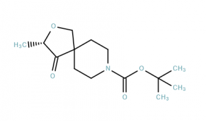 2-Oxa-8-azaspiro[4.5]decane-8-carboxylic acid, 3-methyl-4-oxo-, 1,1-dimethylethyl ester, (3S)-