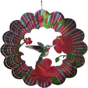 Multi-colored 3D HUMMINGBIRD wind spinner