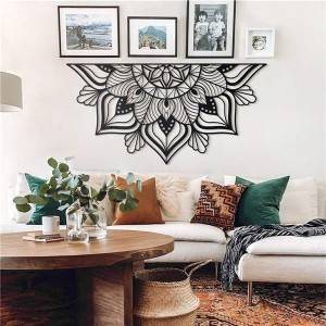 Mandala metal wall art