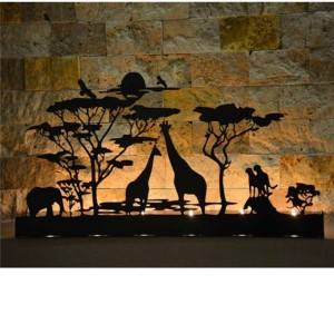 Decorative Safari  Metal Candle holder