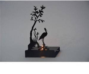 Decorative Swan Metal Candle holder